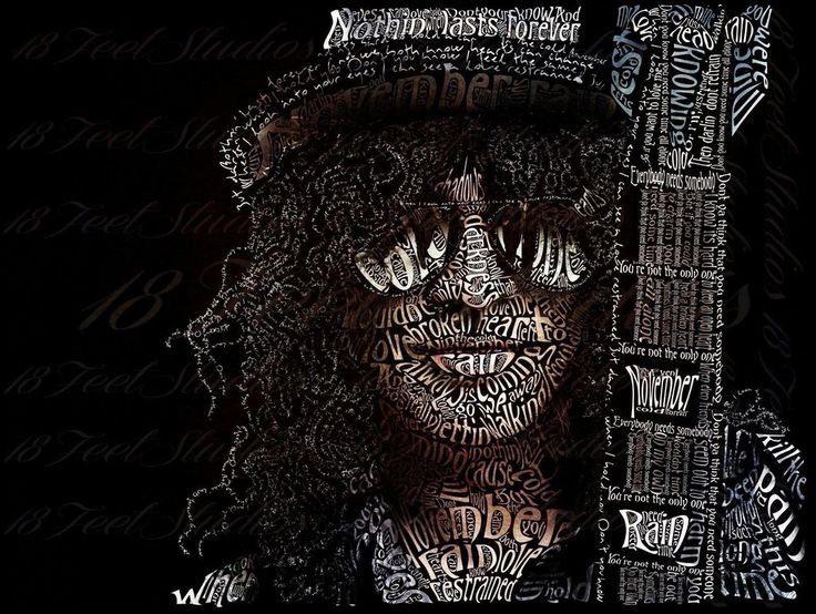 Slash Typography Portrait by lilysmom85.deviantart.com on @DeviantArt