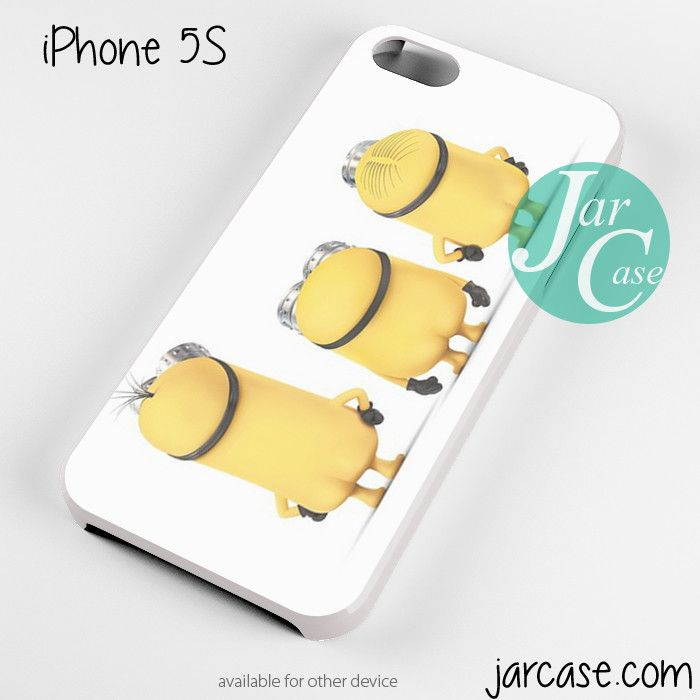 three minions Phone case for iPhone 4/4s/5/5c/5s/6/6 plus