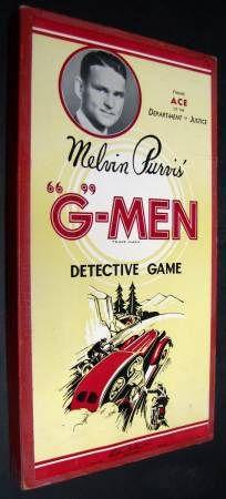"Melvin Purvis' ""G""-Men Detective Game"