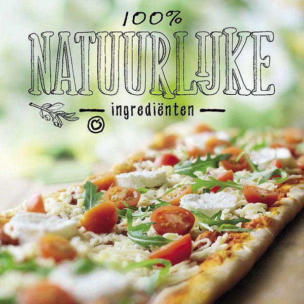 Dat is gezellig pizza eten! Familie pizza. 75cm. Margarita of kip-ananas