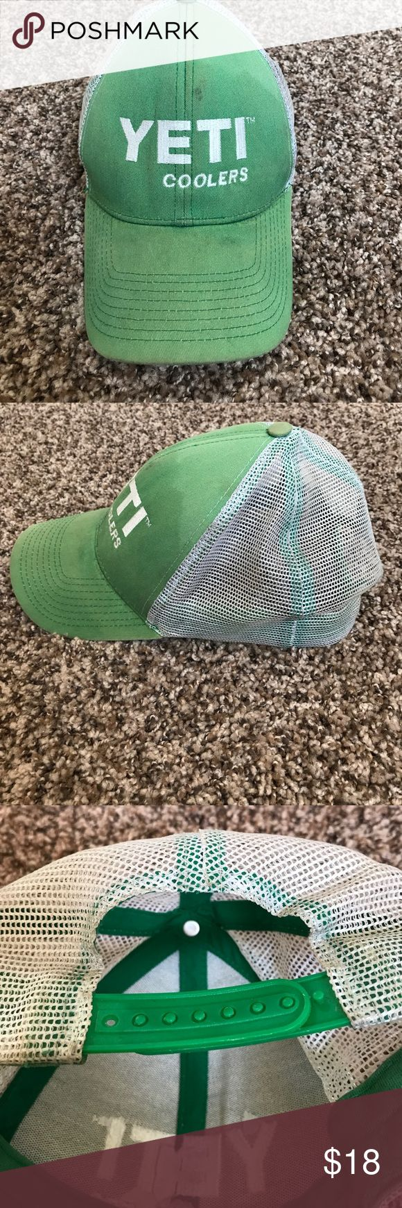 YETI hat Yeti Coolers official hat on green. Used condition but still a great hat! Yeti Accessories Hats