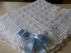 gráfico de manta de tricô para bebê