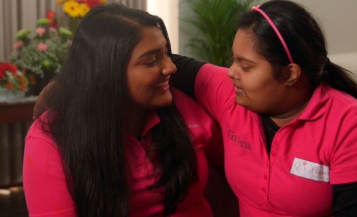 """Working with Down Sydrome: """"Gayana's role is to deliver the flowers with a hug."""" http://www.sbs.com.au/news/thefeed/article/2017/05/03/working-down-sydrome-gayanas-role-deliver-flowers-hug"""