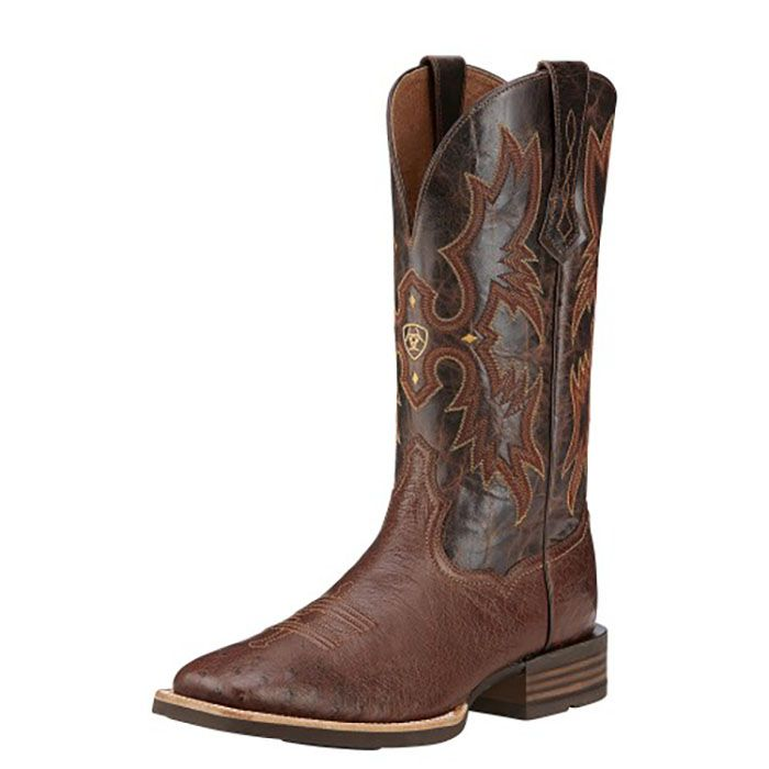 """Ariat 13"""" SQ Tobacco Tombstone Smooth Quill Ostrich 10016276 Mens Ariat  Western Boots: Mens"""