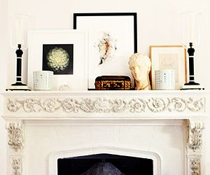 Style a mantlepiece // #livinginstyle