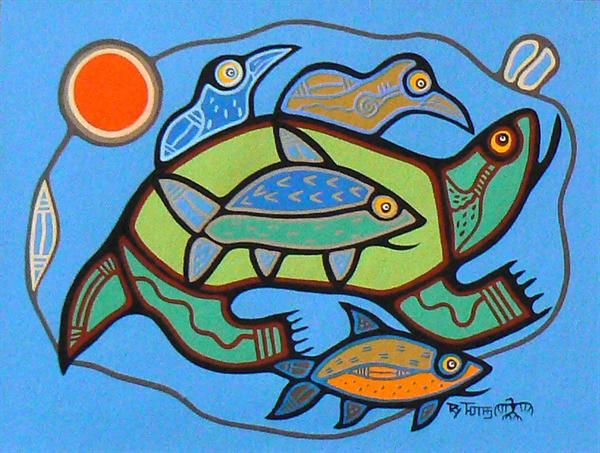Earth Day by Roy Thomas - Contemporary Canadian Native, Inuit & Aboriginal Art - Bearclaw Gallery