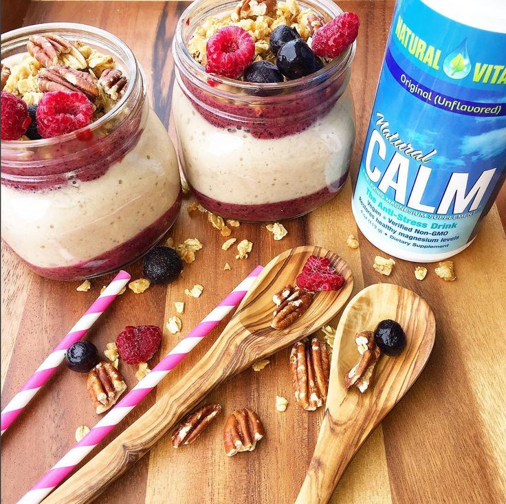 """""""I love making a healthy meal even more healthy by adding my favorite supplements ❤️👌Here I added @naturalvitalityofficial 's unflavored #NaturalCalm magnesium powder to my Raspberry 💖Blueberry 💜Banana 💛Smoothie 😋 Magnesium has so many benefits, it helps me reduce stress and sleep better and longer sleep 😴"""""""