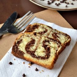 So Soft,light & Delicious Marble Cake-Eggless Cake with step by step pictures!