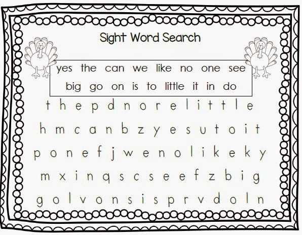 71 Best Thanksgiving Sight Word Plans Images On Pinterest