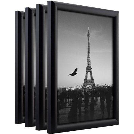 Craig Frames Bullnose Contemporary Black Composite Picture Frame, Set of 4
