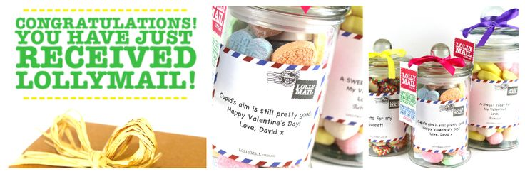 LollyMail is an online Lolly Gifts delivery service. Order your personalised chocolate and lolly gifts jars online with free delivery to Australia.