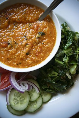 Delicious red lentil curry