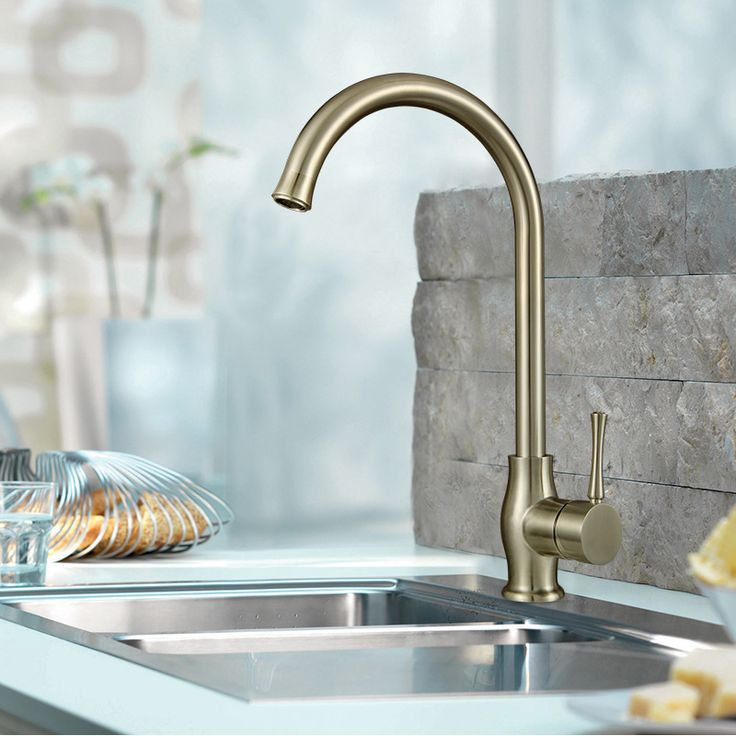 chrome finish single handle rotatable Bathroom basin mixer kitchen faucet cold and hot water mixer taps ** Check out this great product.