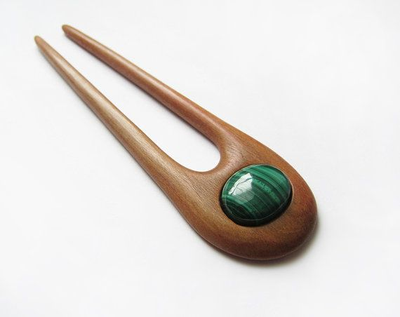 Wooden Hair Fork hairfork wood hair stick 2 by forEVAhairforks