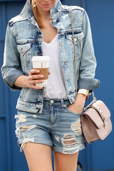 Claudie Pierlot Vintage Studded Denim Jacket by Brooklyn Blonde