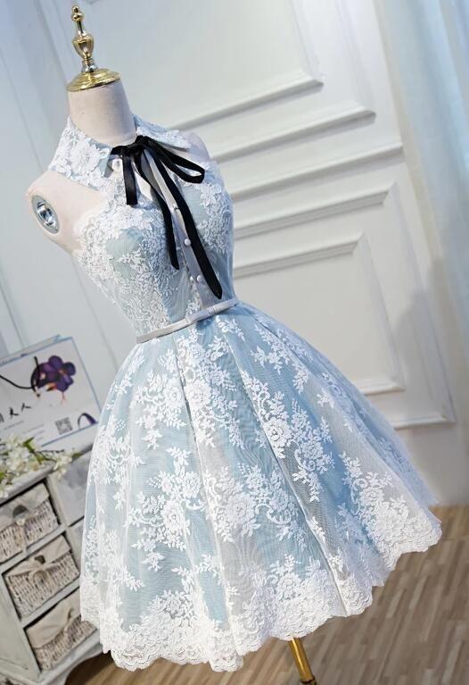 Bonito uma linha laço apliques vestidos de boas vindas da cabeçada, vestido de festa curto   – Princess