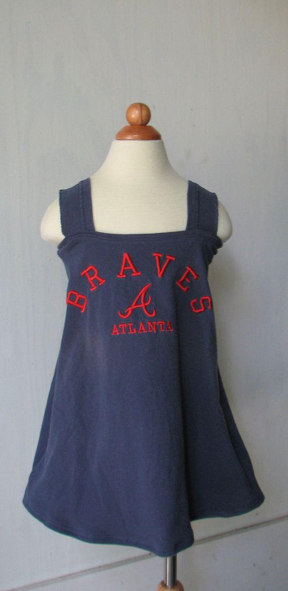 My favorite!  Upcycled Atlanta Braves Dress!