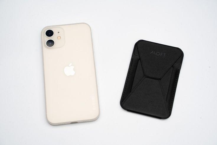 Mugsafe対応で取り外し自在の薄型スマホスタンド Moft Wallet Stand Monotice スマホ Iphone タブレット ブルーブラウン