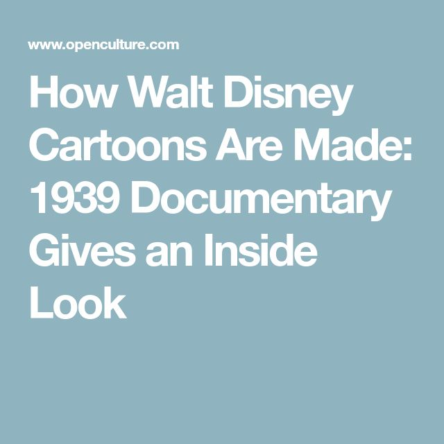 How Walt Disney Cartoons Are Made: 1939 Documentary Gives an Inside Look