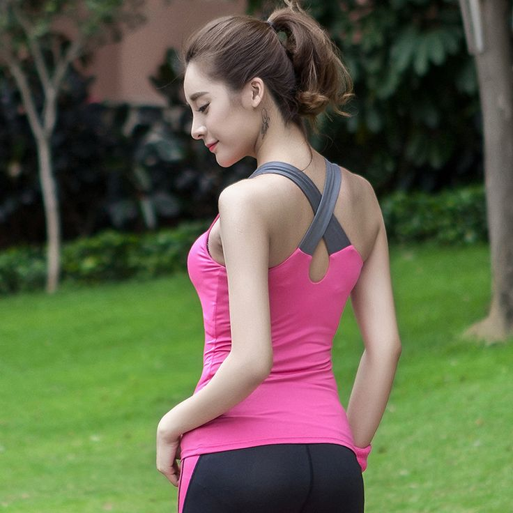 Wholesale 86%nylon 14%spandex Tank Top Gym Clothing Women Fitness  US $8- 11/ Piece  450334744@qq.com