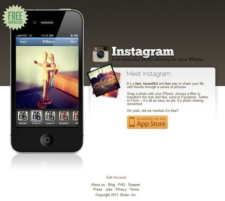 Instagram #Landing page