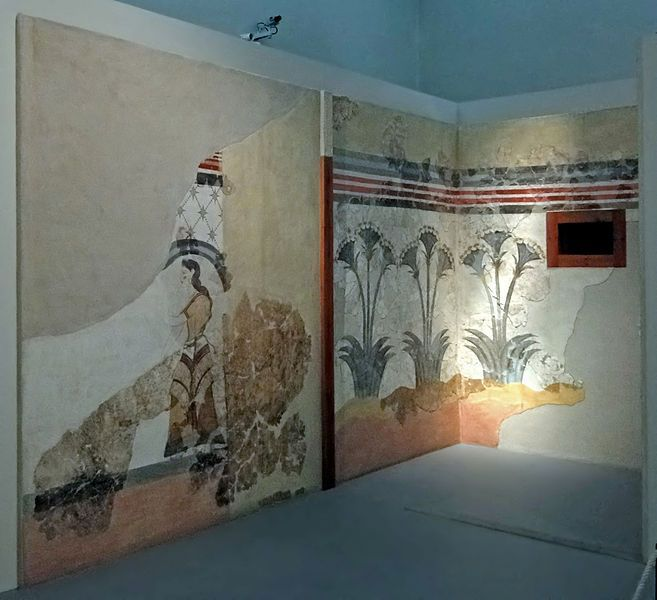 Wall paintings from the House of the Ladies found in the ...