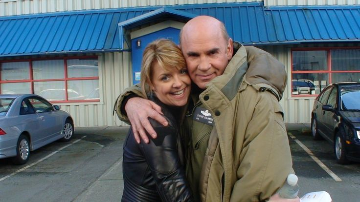 Amanda Tapping and Mitch Pileggi from the #SGA set. #stargateatlantis