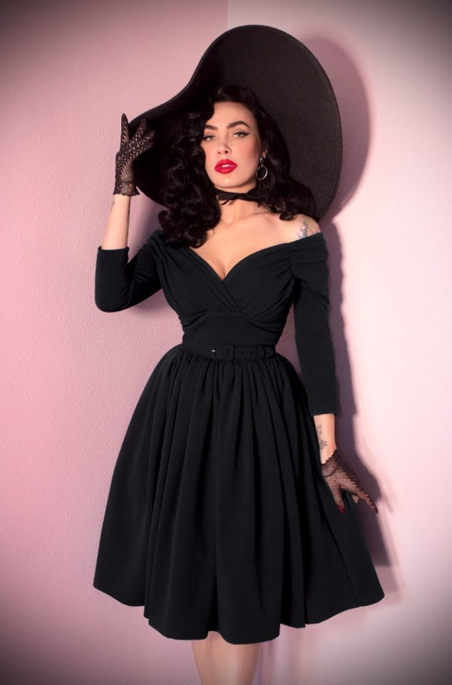 f4473e5b51 The Black Starlet Swing Dress is the ultimate