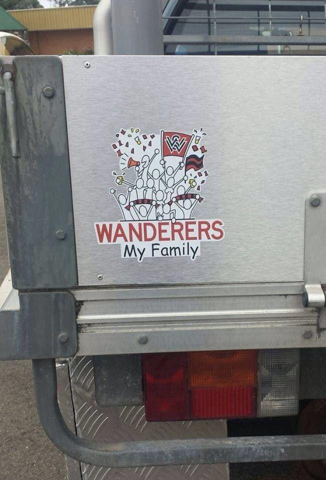 Western Sydney Wanderers car sticker! RBB