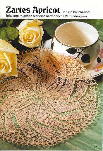 Kira knitting: Scheme knitted tablecloths 31
