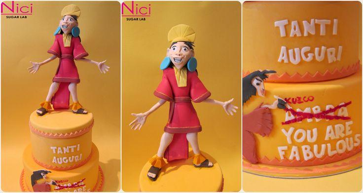 Cake Design Topper Kuzco  My works: http://www.nicisugarlab.it/