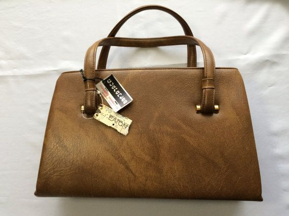 Deadstock Eaton's Purse Brown Faux Leather Gold Colour