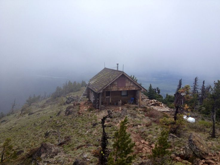 Cabin atop Black Butte Lookout in Deschutes National Forest, Oregon.