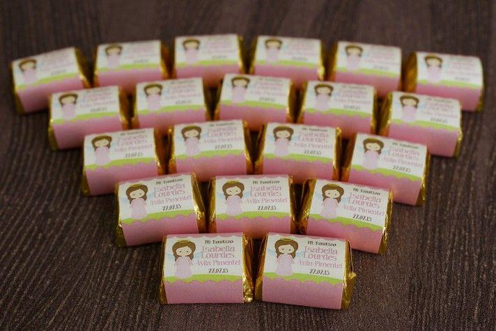 Chocolates Hersheys para bautizos