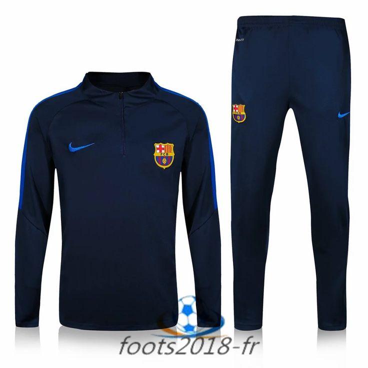 Nouveau Survetement de foot FC Barcelone Bleu Marine 2016 2017