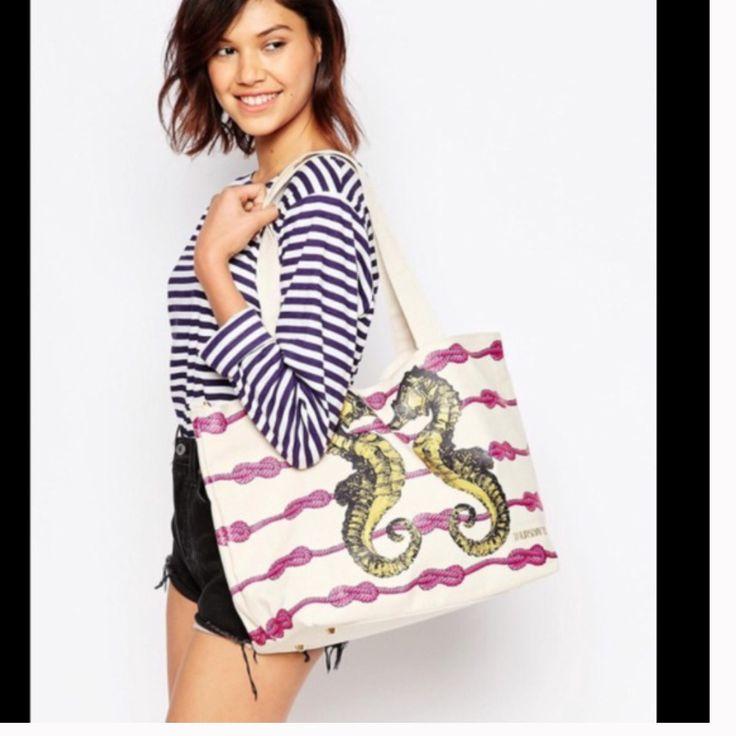 Sea Horse Canvas Tote Bag. Hp Limited Ed.
