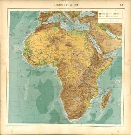 Best Africa Map Images On Pinterest Africa Map African - Jamaica shaded relief map 1968