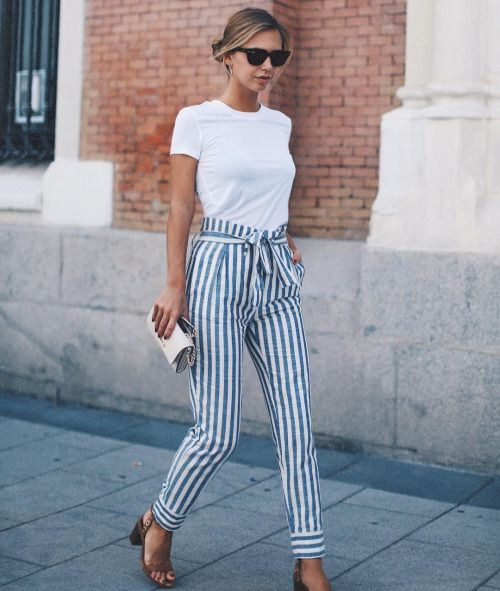Stripey trousers