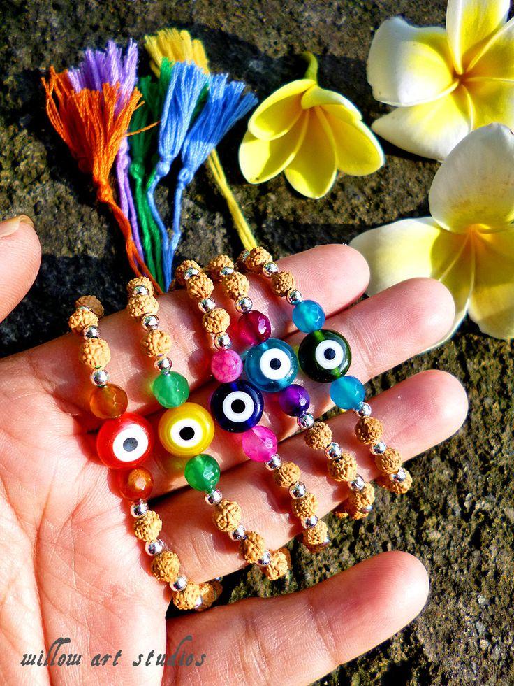Evil eye Rudraksha Bracelets