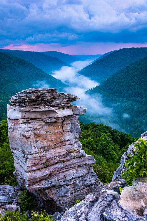 WV | Blackwater Falls State Park, Potomac Highlands in West Virginia, It has multiple waterfalls, and lake, and several beautiful overlooks. | Jon Bilous Photography
