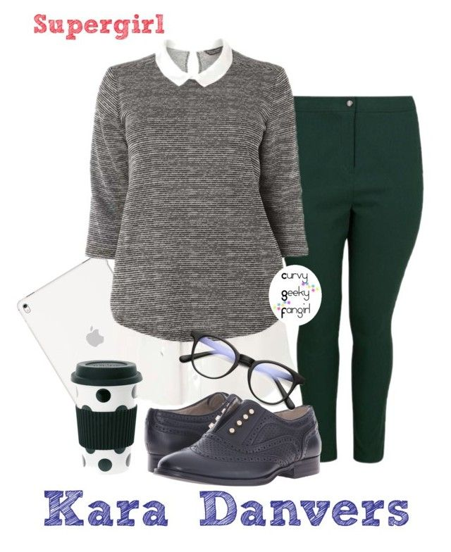 Supergirl: Kara Danvers by curvygeekyfangirl on Polyvore featuring polyvore Dorothy Perkins Steve Madden ZeroUV fashion style clothing