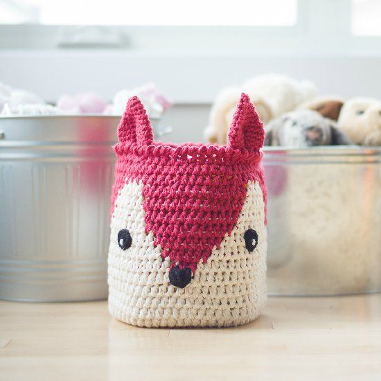 24f31eb4396 Crochet your own Fox Basket that can be easily converted into a pillow or  cushion!