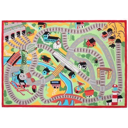 Pink Rugs he loves the little town rug so much i am certain a thomas the train