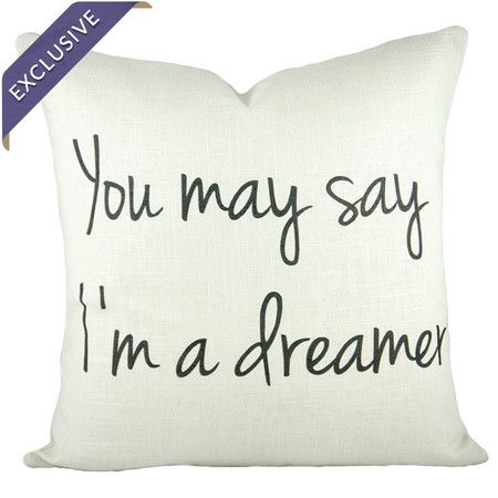 Handmade cotton and linen-blend pillow printed with a song lyric.  Product: PillowConstruction Material: Cotton and linen blendColor: MultiFeatures:  Handmade by The Watson ShopEnvelope enclosureMade in the USAExclusive Joss & Main product Dimensions: 16 x 16Cleaning and Care: Dry clean only