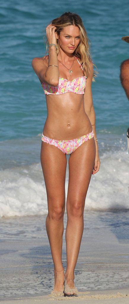 Candice Swanepoel in a Bikini in St. Bart's