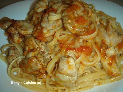 Betty's Cuisine: Κοτόπουλο φιλέτο κοκκινιστό με λιγκουίνι