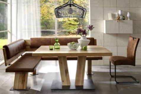 essecke mit eckbank und tisch | Niehoff Eckbankgruppe Scarlett Eckbank rustical oak Massivholztisch ...