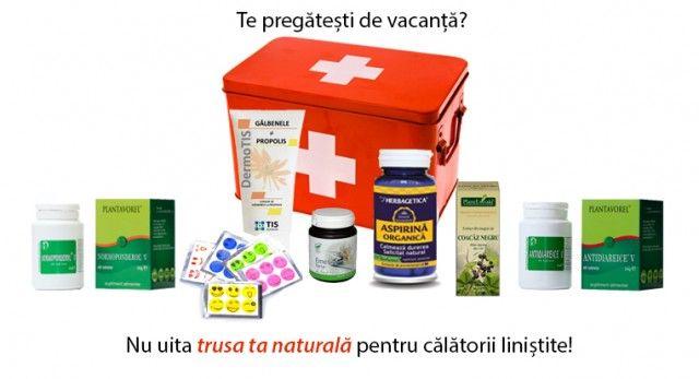 Trusă de vacanță - Prim ajutor natural. Conține produse esențiale care nu ar trebui să lipsească din geanta dumneavoastră atunci când plecați în concediu. LIVRARE GRATUITĂ ORIUNDE ÎN ȚARĂ!