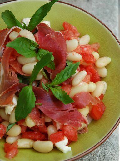 Salade de haricots blancs à l'italienne - Recette de cuisine Marmiton : une recette
