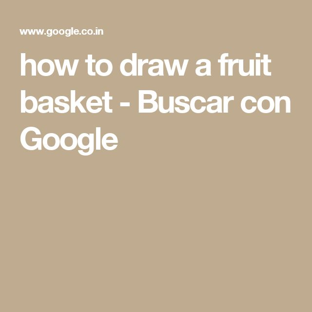 how to draw fruit basket